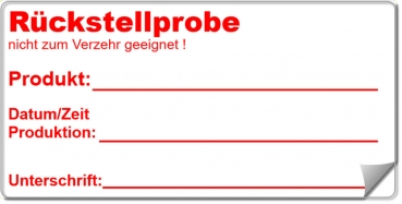 "Etiketten ""Rückstellprobe"" Magic-Label"