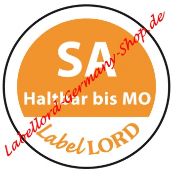 Labellord Tagesetikett Samstag Aqualabel