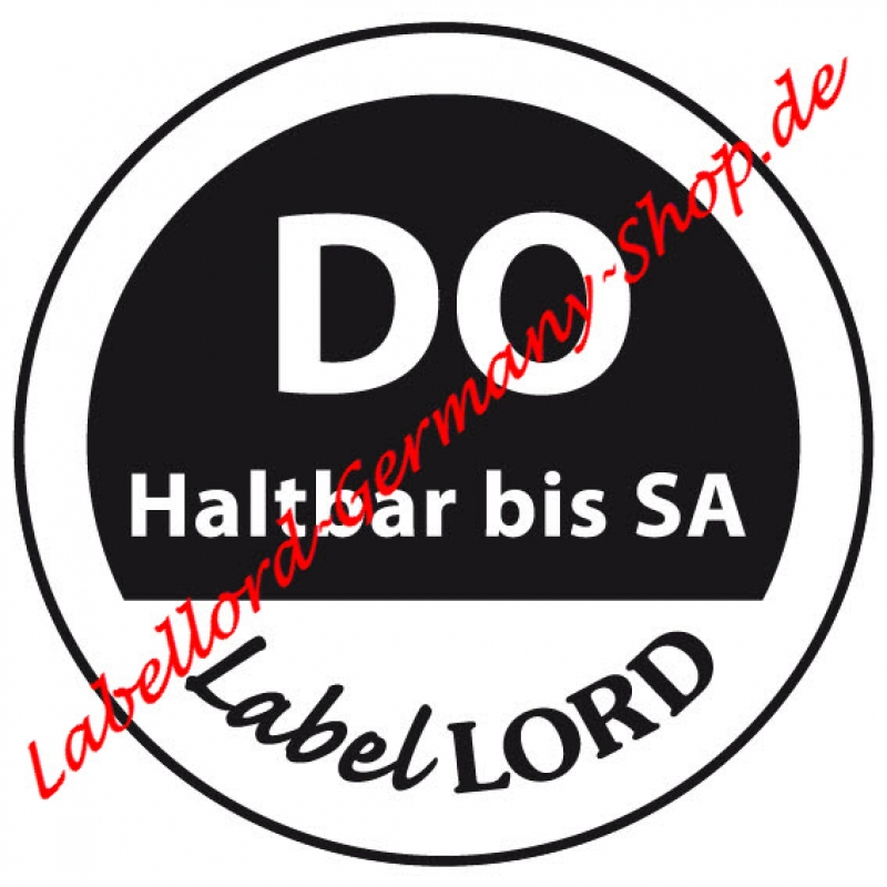 Labellord Tagesetikett Donnerstag Flushlabel